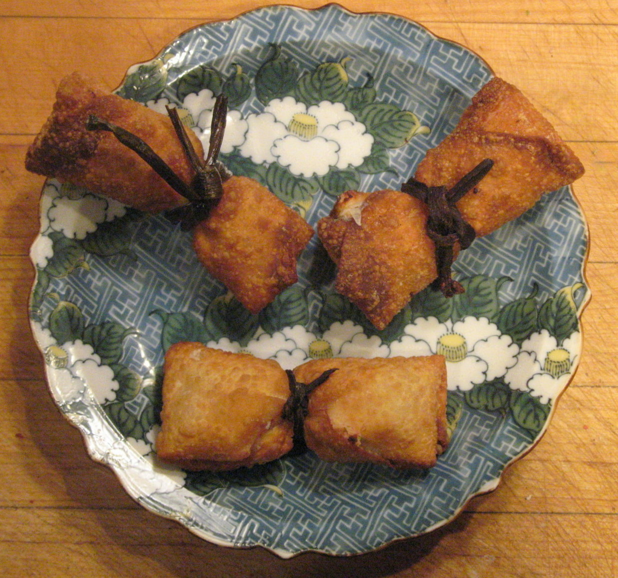 Crispy Firecrackers filled with Celery Crab Rangoon