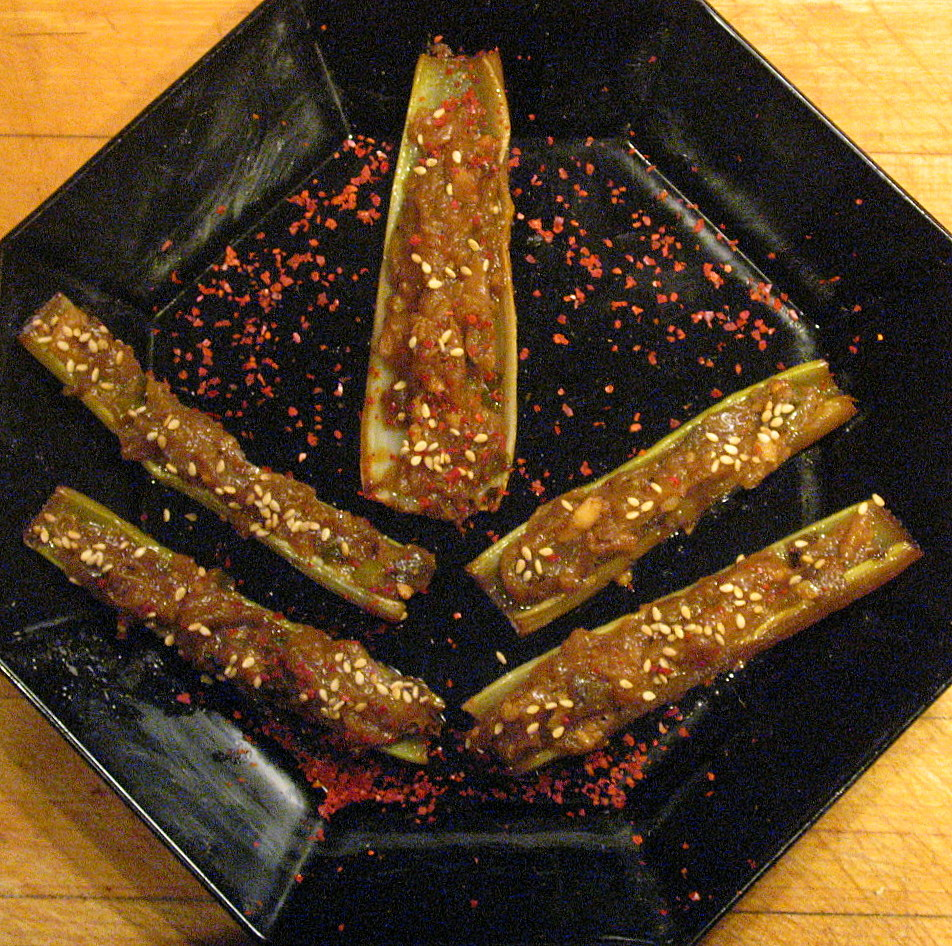 Not Yo&#x27; Mama&#x27;s Celery Stix*: Szechuan Celery and Eggplant