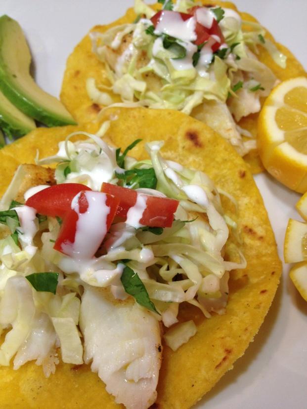 California halibut tacos recipe on for Halibut fish tacos