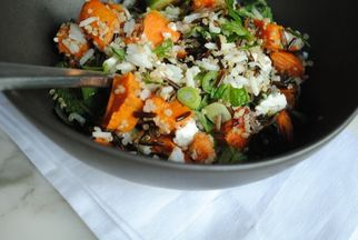 Roasted Sweet Potato, Feta, and Wild Rice Salad