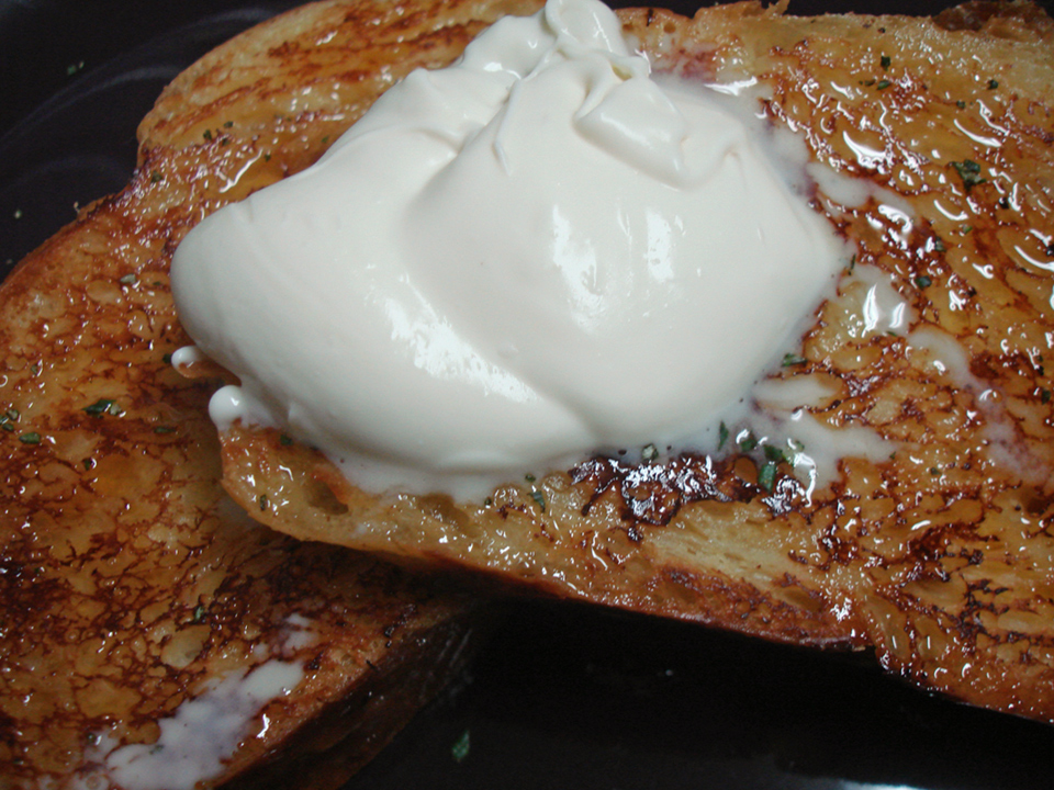 Maple Rosemary French Toast  with Vanilla Crème Fraîche