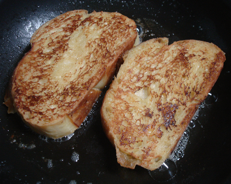 Maple Rosemary French Toast  with Vanilla Crme Frache