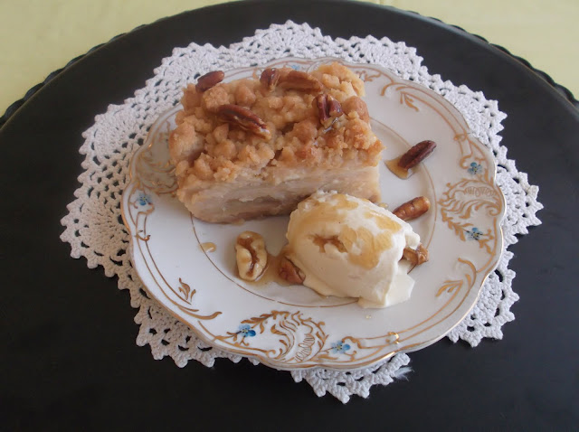 Pecan Streusel Pie with Maple Syrup and Ginger Spiced Apple-Pear Filling