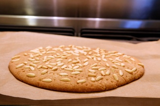Pomegranate & Pine Nut Brown Sugar Shortbread