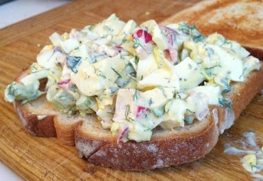 Sharp and tangy egg salad
