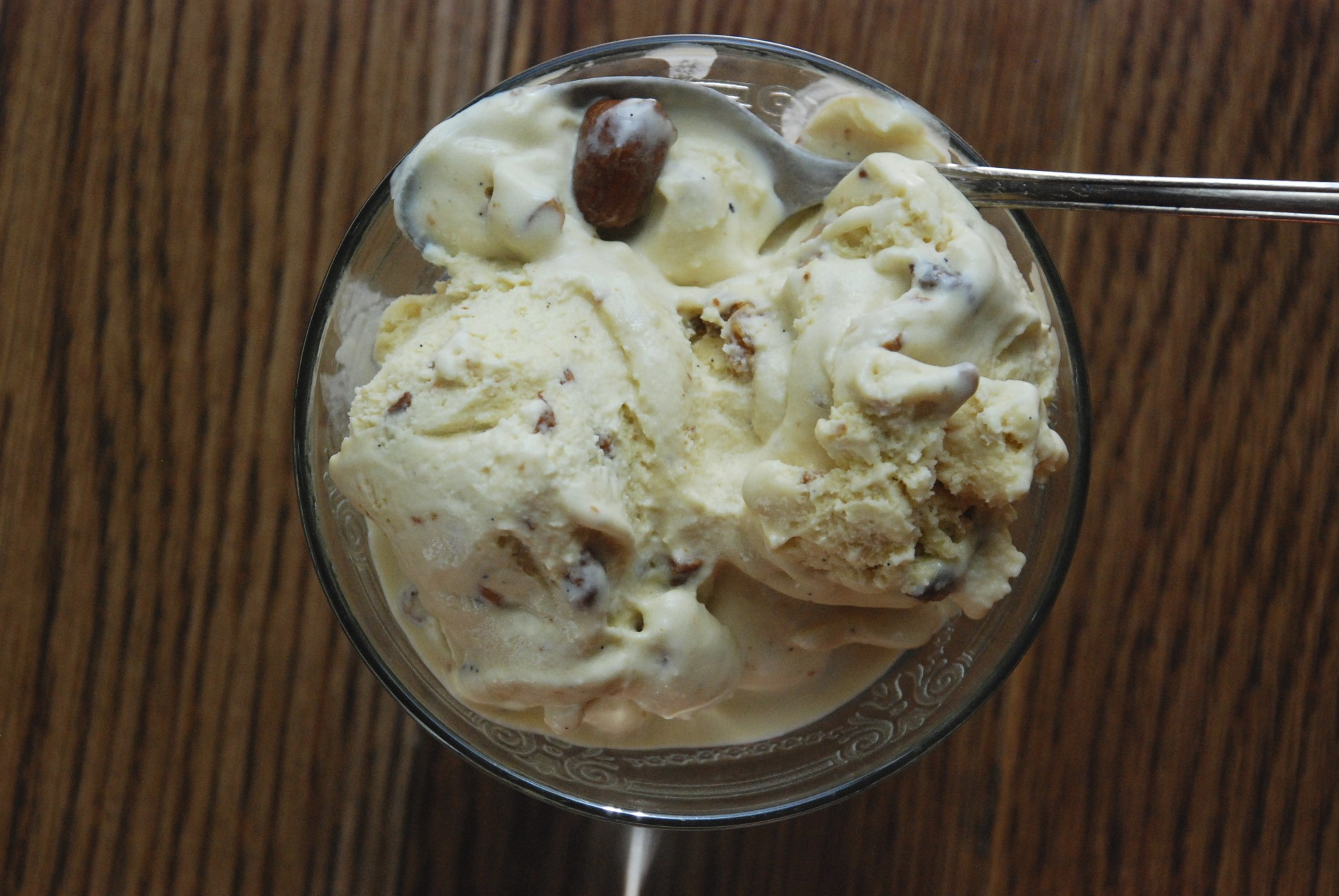 Maple Ice Cream with Tipsy Raisins and Maple-Candied Cashews