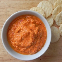 Roasted Red Pepper and Cashew Dip