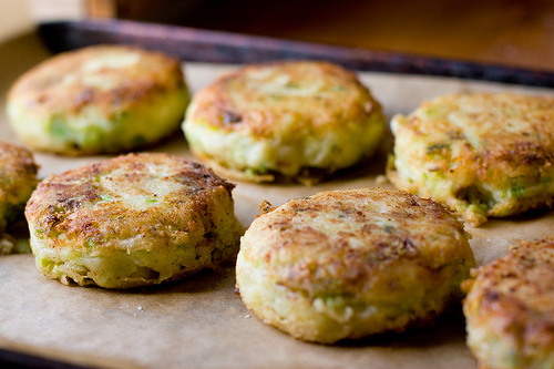 Asparagus Onion Cakes