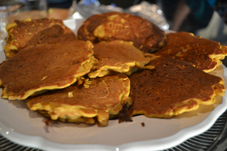 Gluten-Free Sweet or Savory Carrot Pancakes With Two Toppings