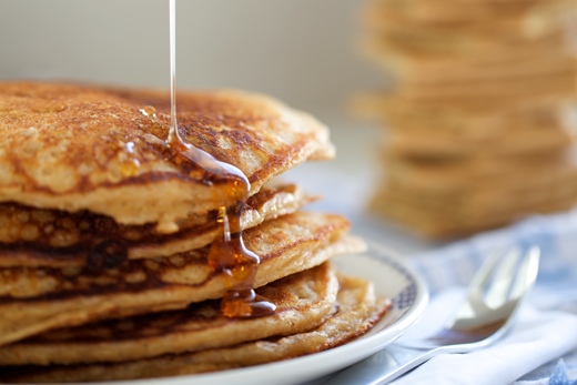 Graham Cracker Pancakes