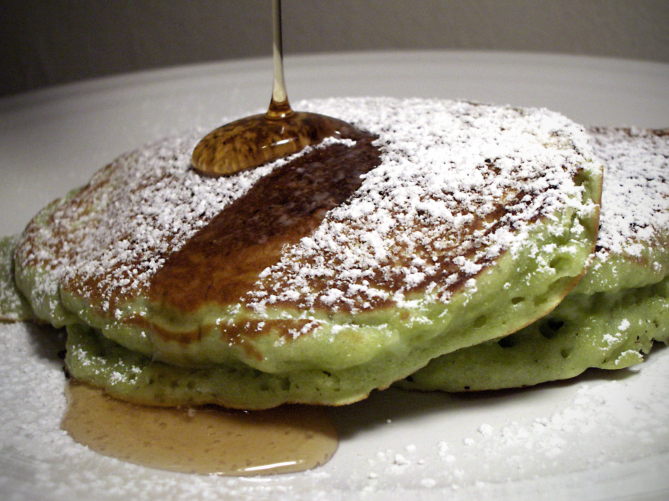 Green Tea and Coconut Pancakes