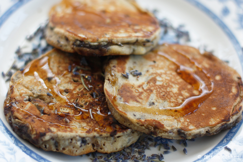Lavender-Chocolate Chunk Pancakes with Crme Friche
