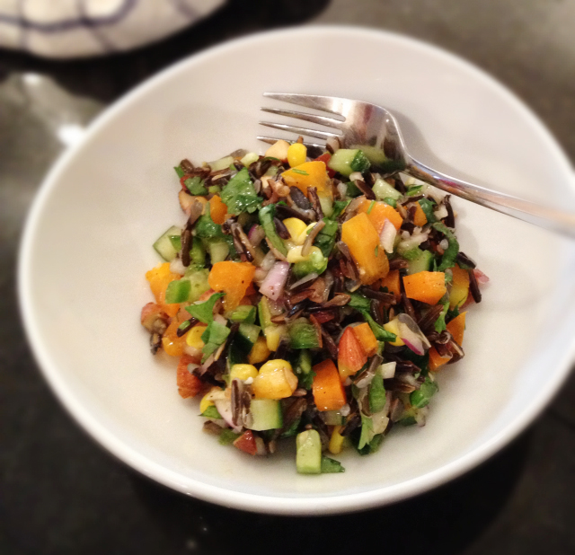 Spicy Wild Rice Salad
