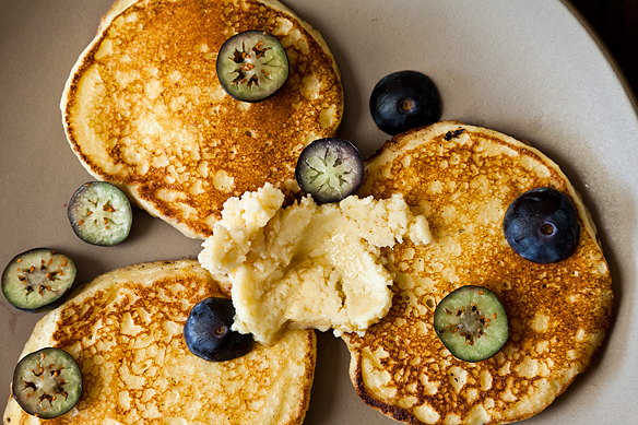 Ricotta Hotcakes with Maple Butter