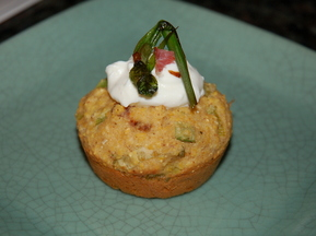 "Spring Onion, Leek, Ramp and Bacon ""Cupcakes"""