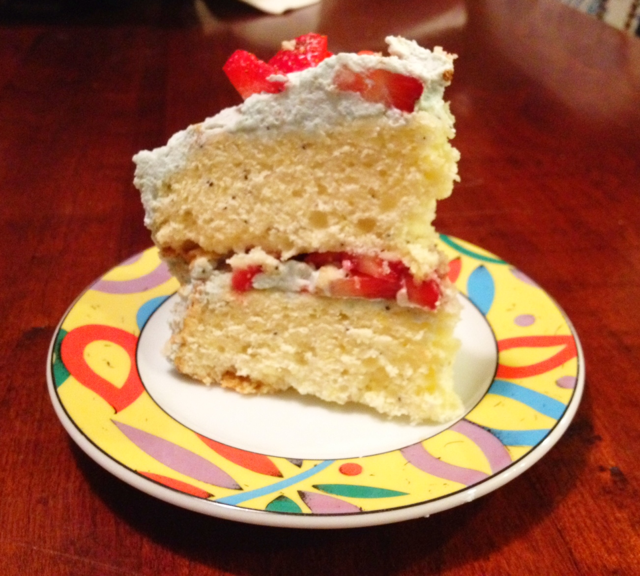Lemon Poppy Seed Strawberry Cake with Lavender Whipped Cream Recipe on ...