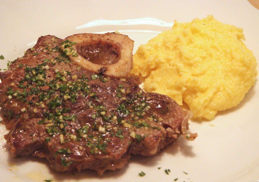 Same Time, Same Place Ossobuco and Saffron Polenta