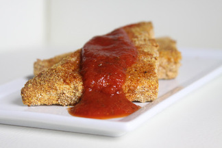 Crispy Baked Tofu with Marinara