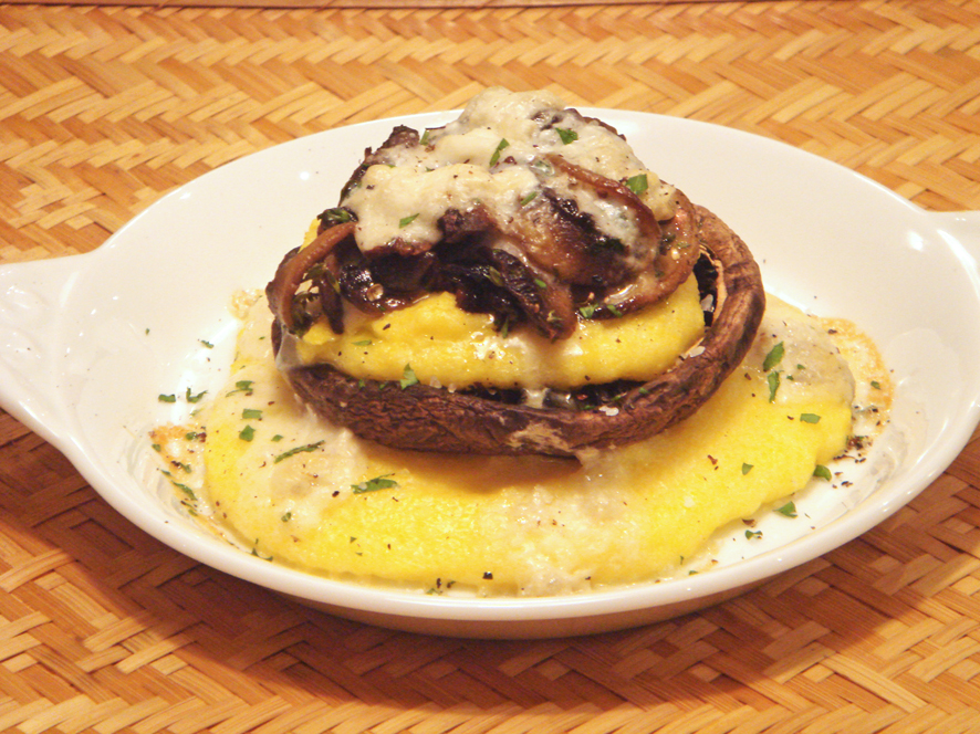 Mushroom and Polenta Towers