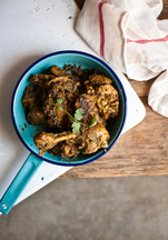 Methi Murgh (Chicken cooked with fresh fenugreek leaves)