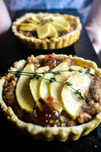 Not So Sweet Bean & Apple Fruit Tart