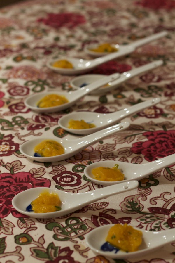 "Mango, Mint, Guava and Rose Sorbet - ""Gola Ganda"""