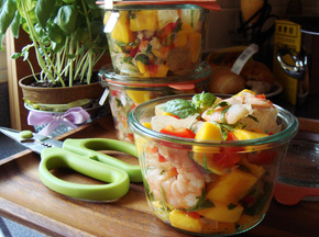 Pomelo Mango Shrimp Salad