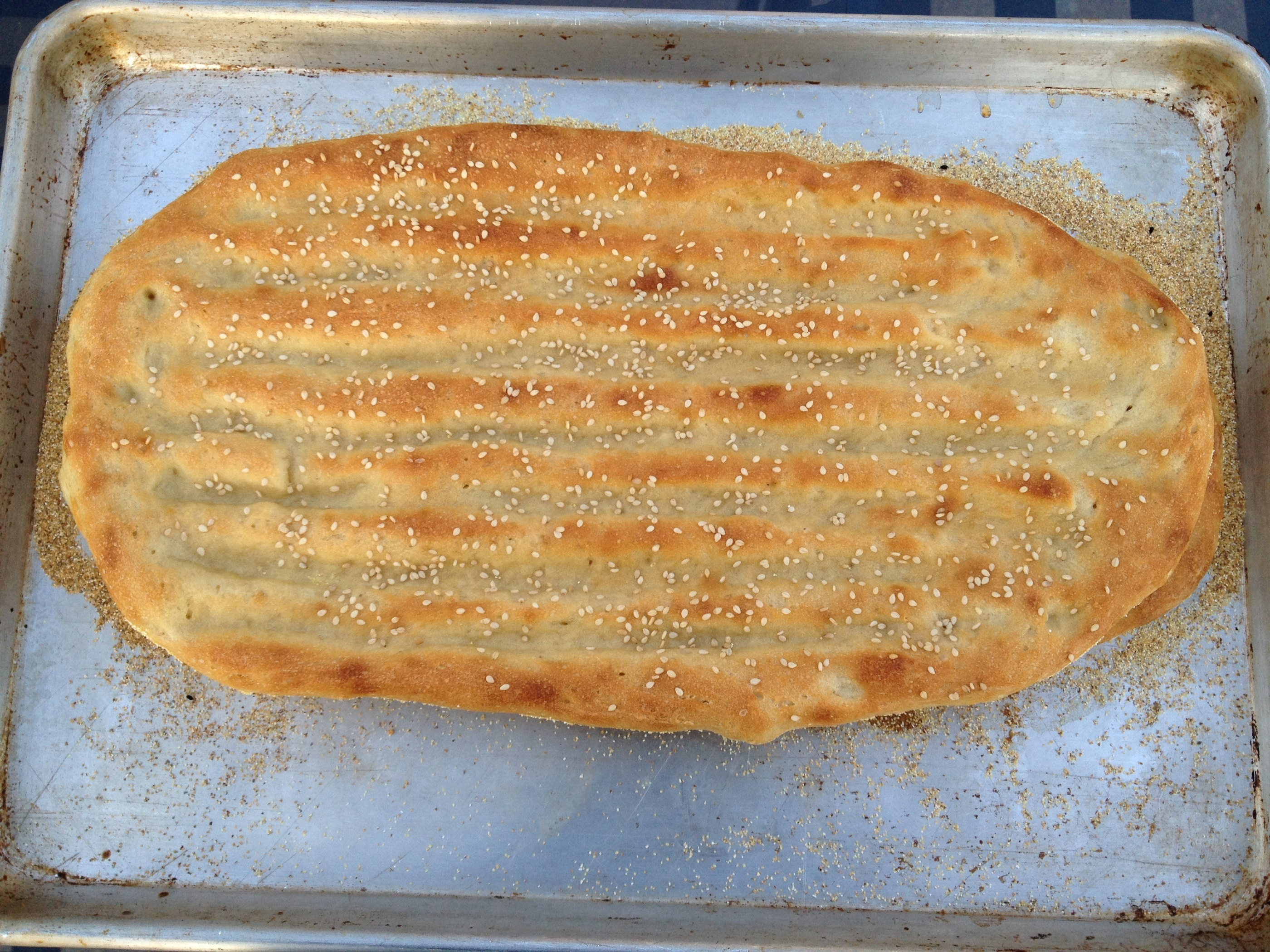No-knead Barbari Bread