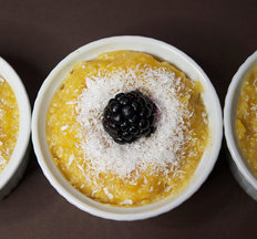 Butternut &amp; Coconut Polenta Pudding