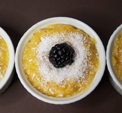 Butternut & Coconut Polenta Pudding