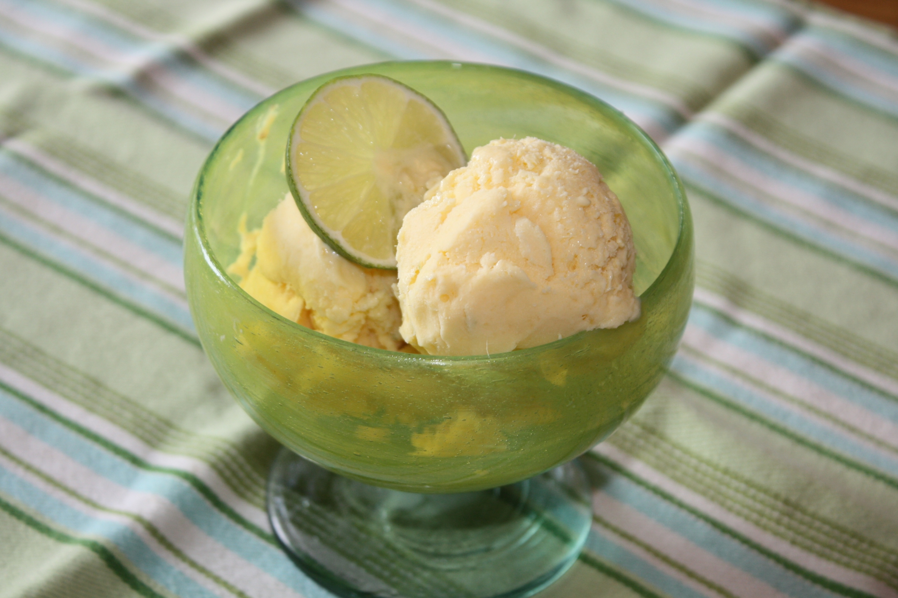 Mango-Lime Ice Cream