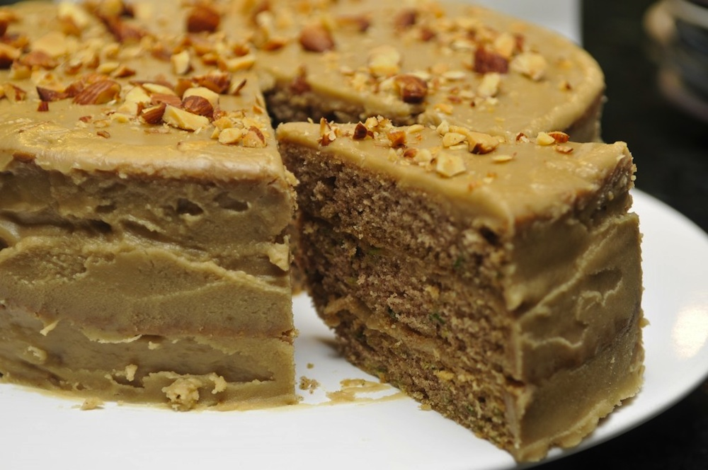 Salted Caramel Zucchini Cake