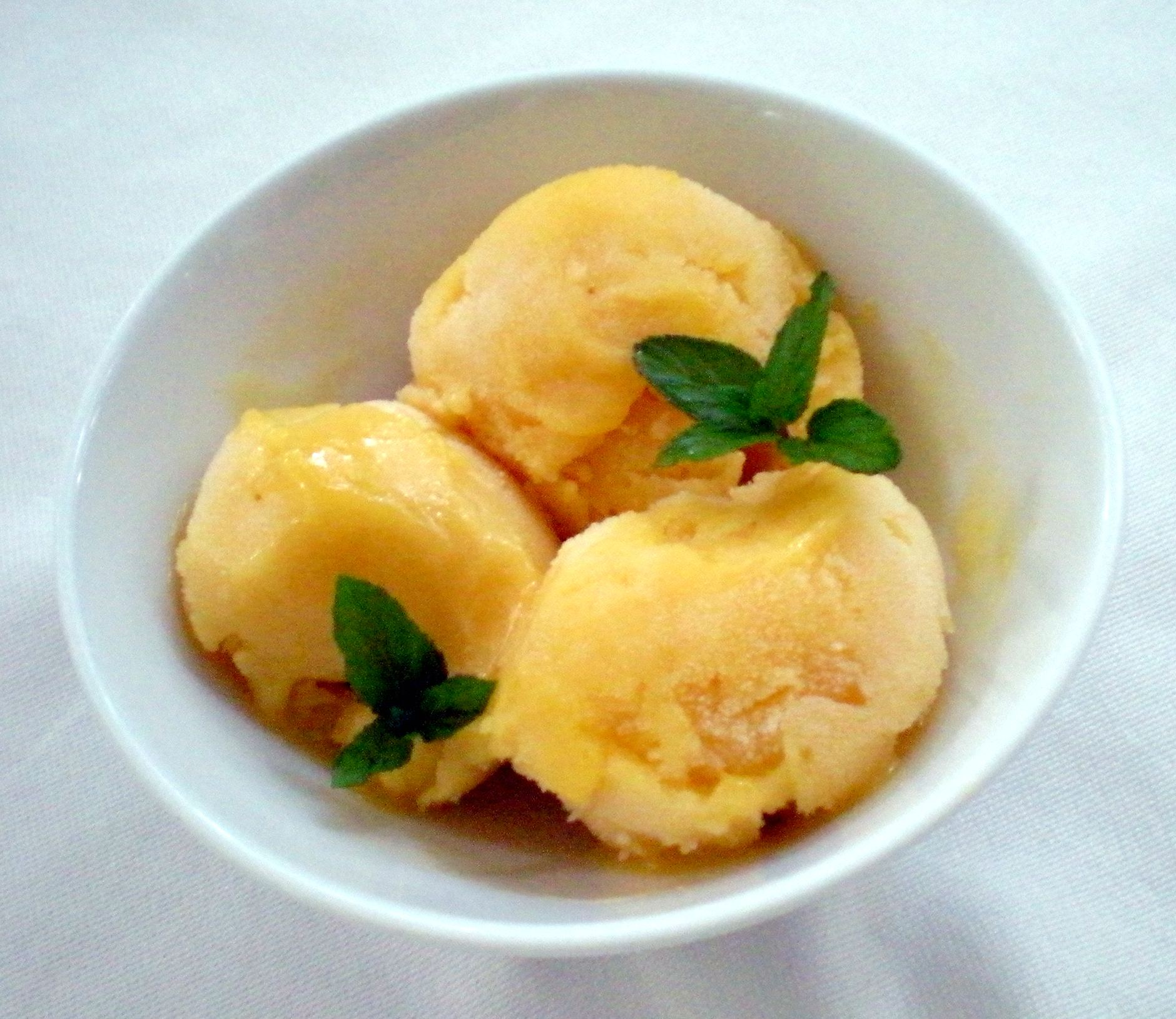 Mango mint sorbet