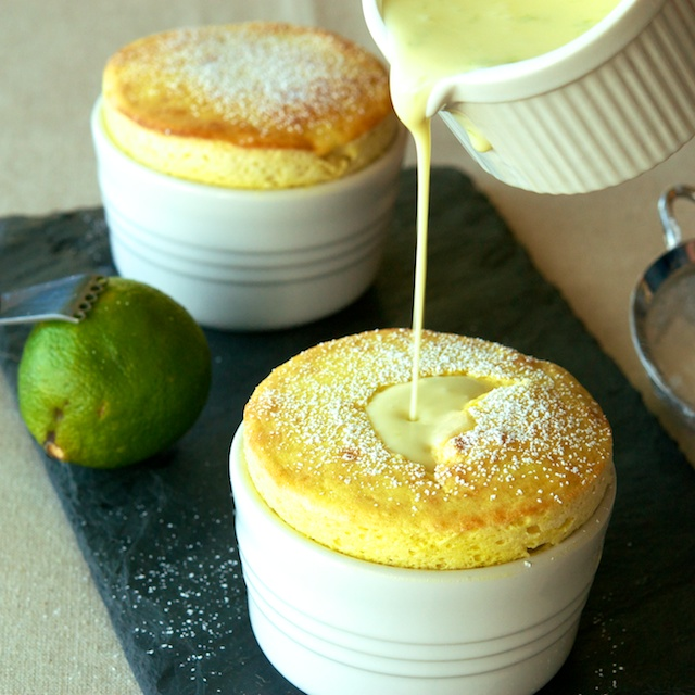 Mango Souffls with Coconut-Lime Crme Anglaise