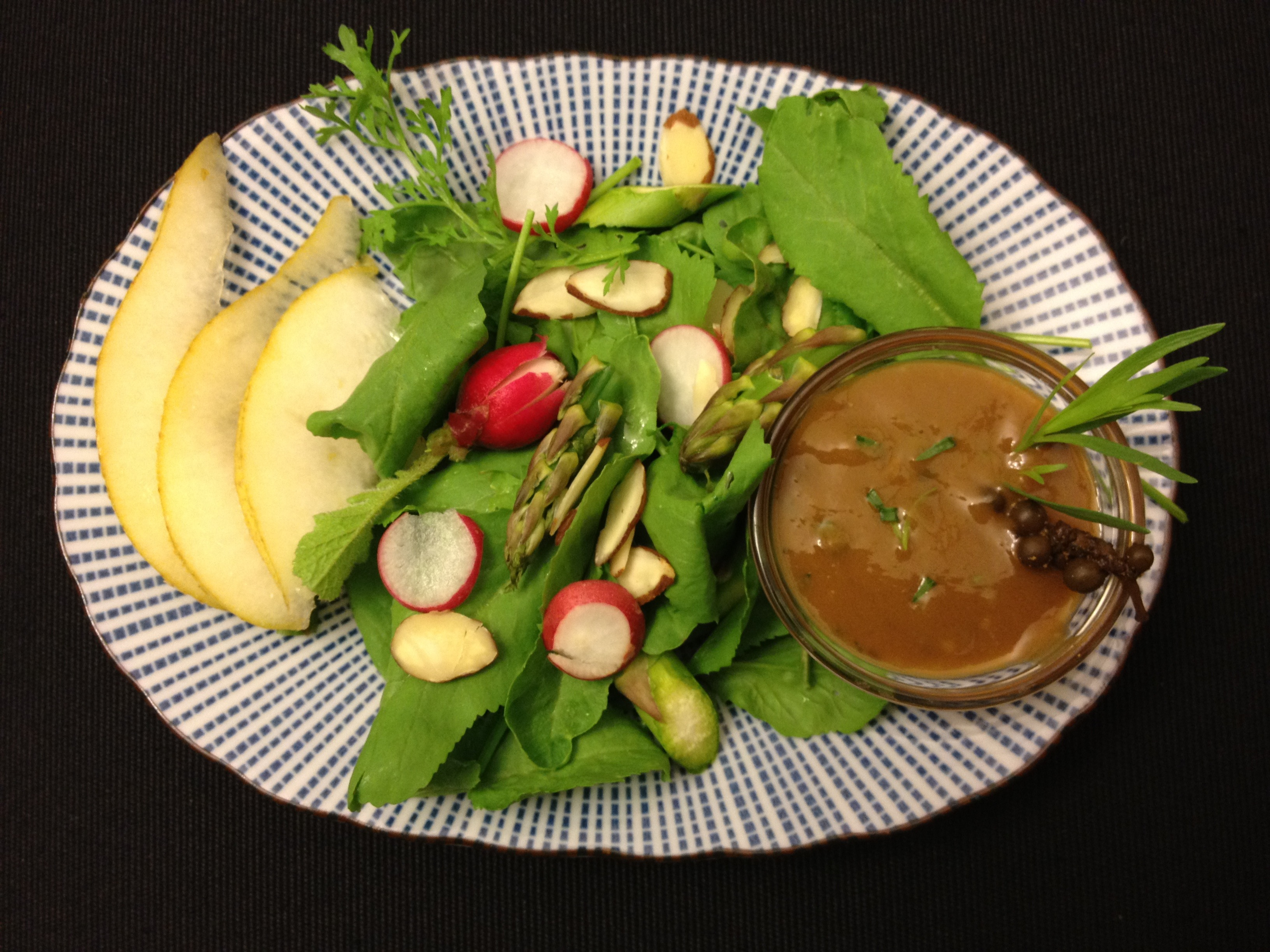 Mango Tarragon Vinaigrette with Pickled Green Peppercorns