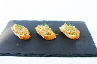 Roasted Fennel, Garlic &amp; White Bean Crostini