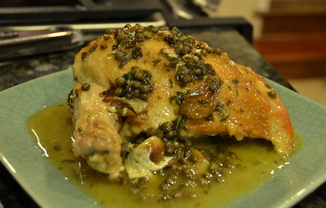 Arrivederci Florence! Chicken with Capers and Oregano