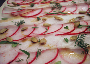 Shaved Radish (and Turnip) Salad