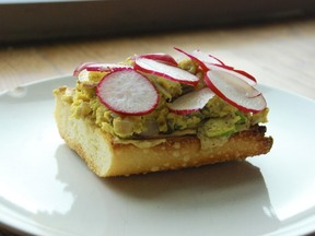 Radish Scrambled Toast