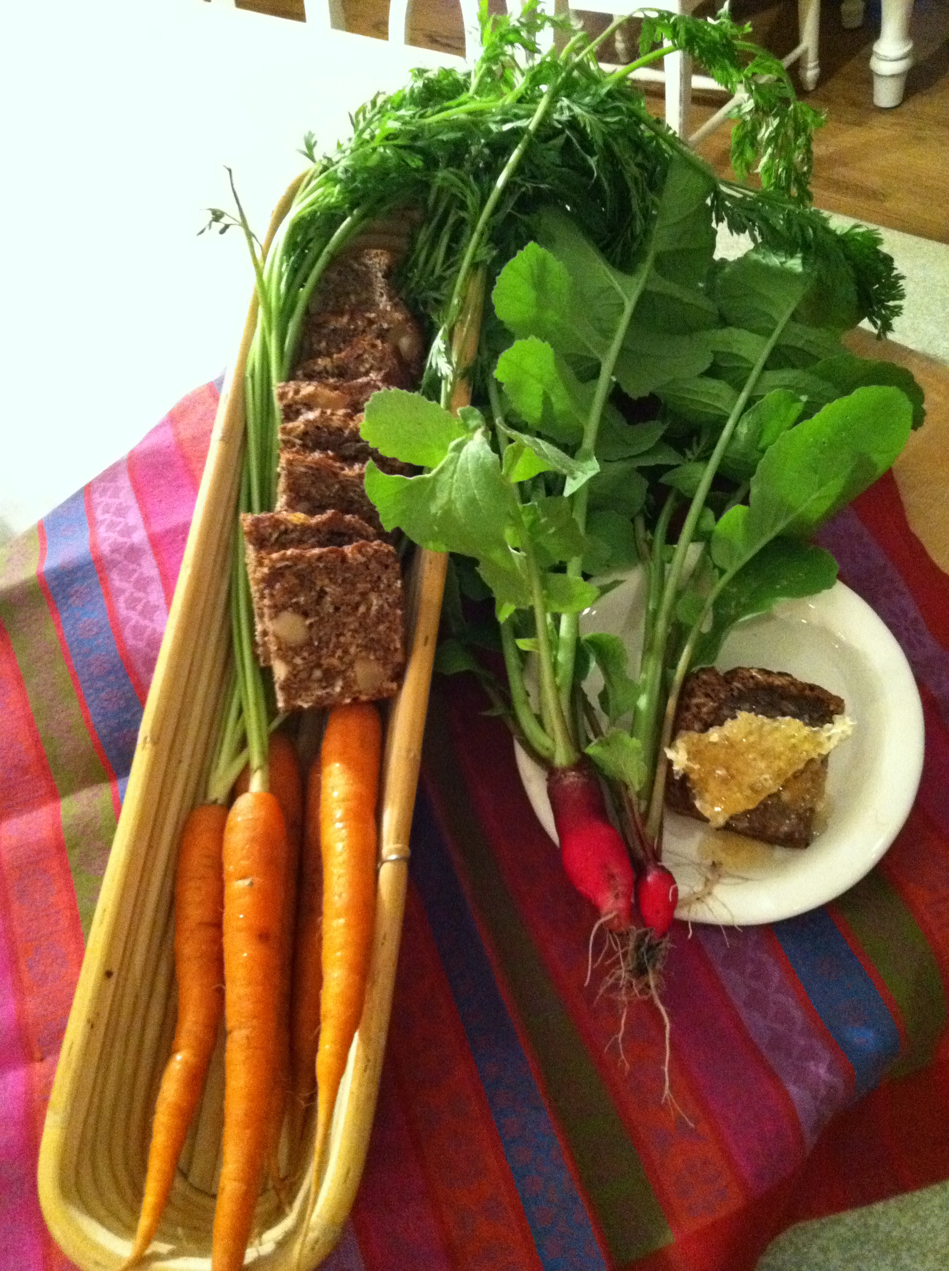 Radish-carrot date nut bread