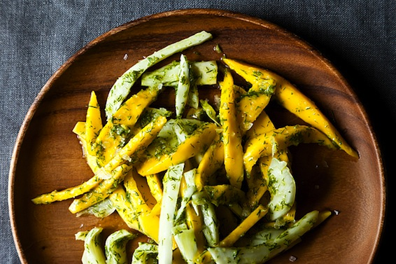 Mango Salad with Fennel Frond Pesto from Food52