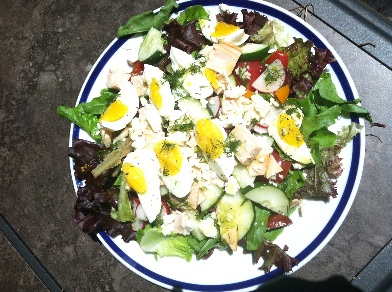 Chef&#x27;s Salad with Dill Vinaigrette