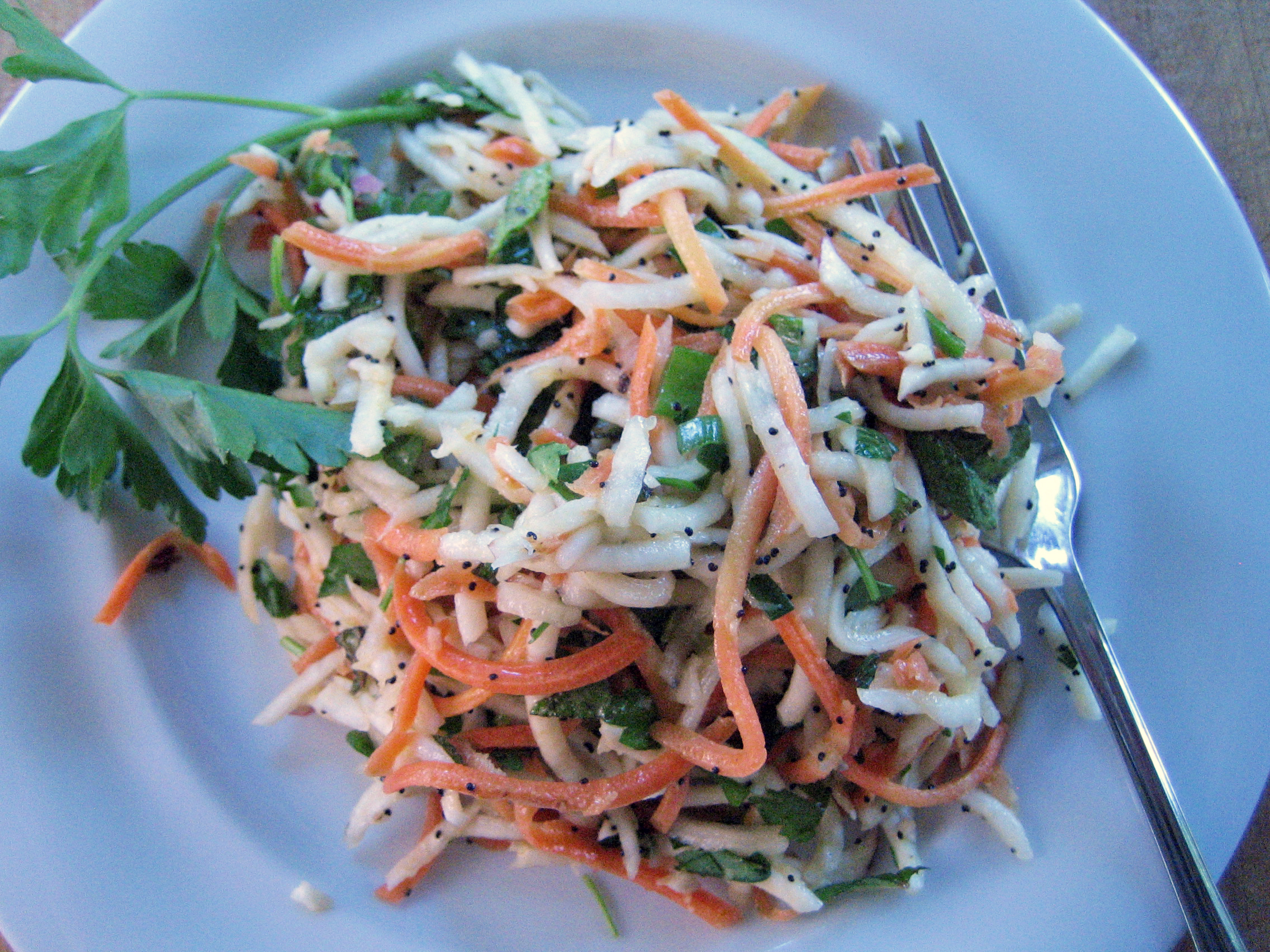 Turnip Carrot Slaw
