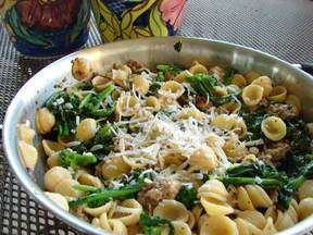 Orecchiete with Broccoli Rabe and Sausage