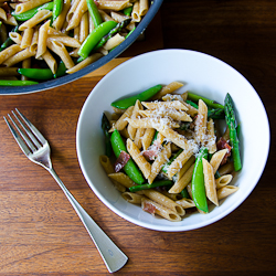 Spring Penne with Sugar Snap Peas & Asparagus