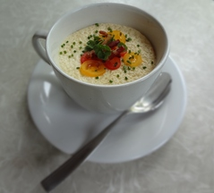 Bacon Tomato Chawan Mushi