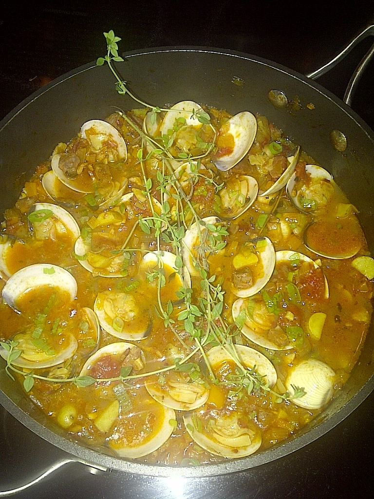 Spanish Clams with Chorizo 