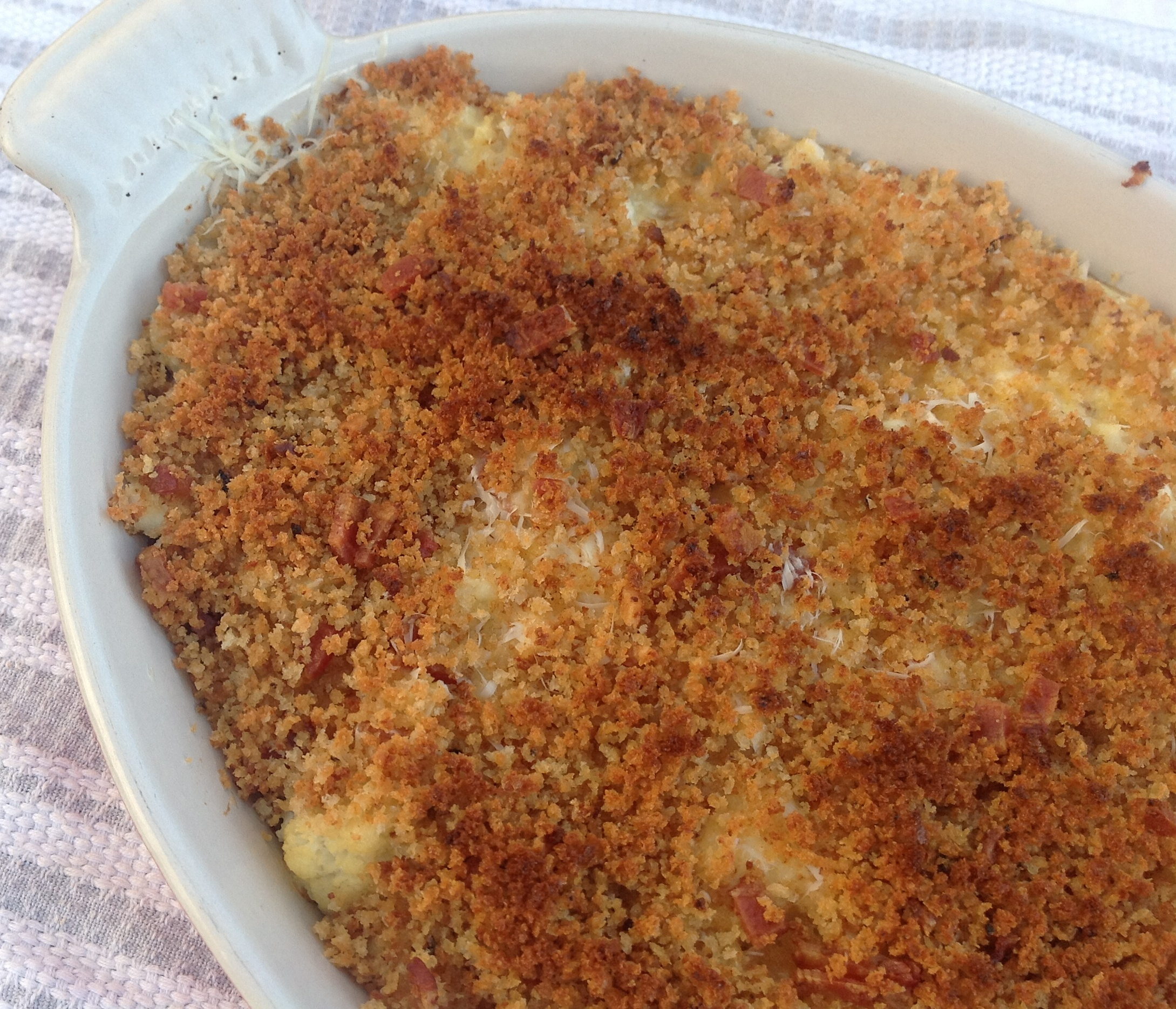 Bacon-y Cauliflower Gratin