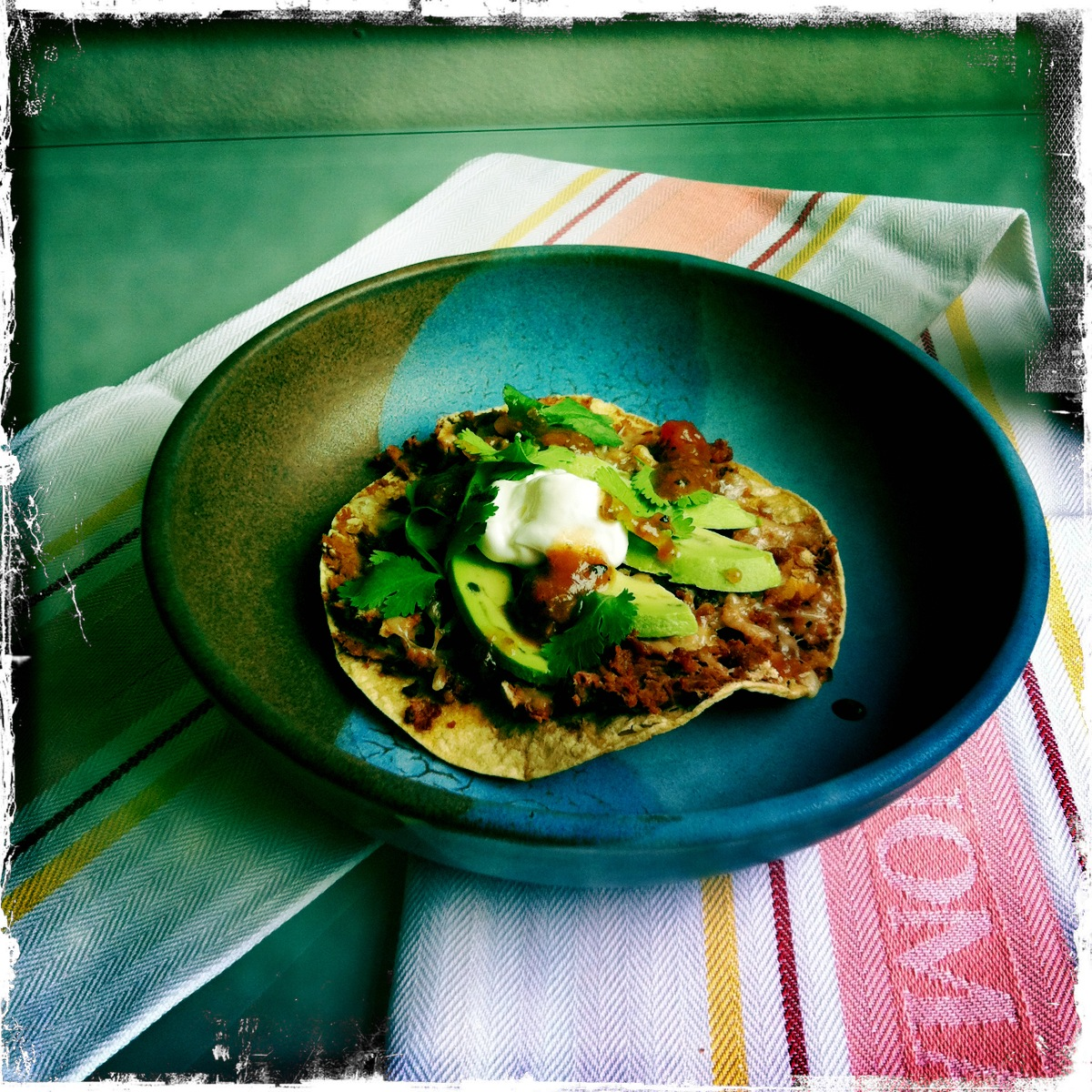 Tostadas with Spicy Chorizo