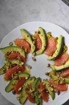 Asparagus and Grapefruit Salad with Pistachio Vinaigrette